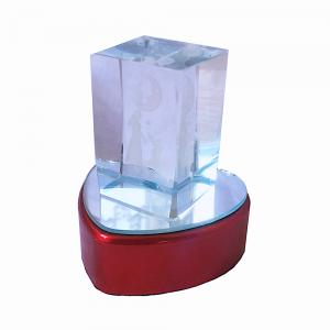 Toptan Işıklı Kalpli Kristal Cam Biblo Aşk Temalı