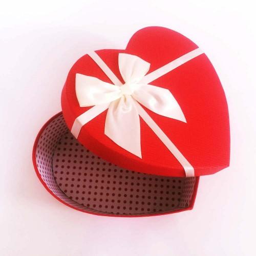 Kırmızı Kalp Hediye Kutusu