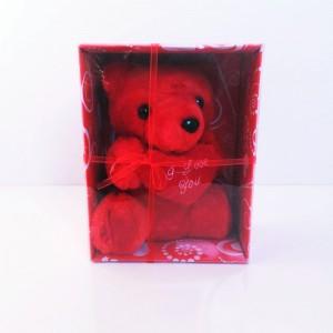 Kırmızı Kalpli Peluş Ayıcık