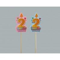 2 Yaş Çubukları Doğum Günü Süsleri