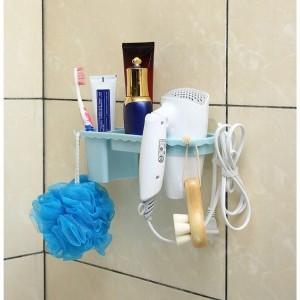 Banyo Organizer Raf Fön Makinası Askısı