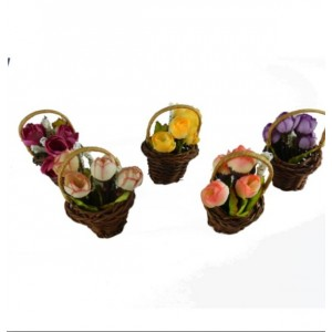 Dekoratif Buzdolabı Çiçek Sepeti Magnet