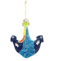 Dekoratif Seramik Büyük Boy Çapa Gemi Çapası Duvar Süsü