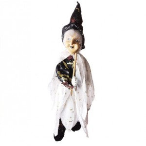 Dekoratif Süpürgeli Cadı Figürü