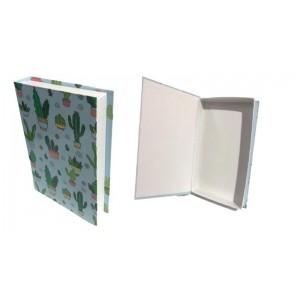 Kitap Tasarımlı Kaktüs Hediye Kutusu