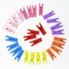 Toptan 100 adet Karışık Renkli Ahşap Mandal
