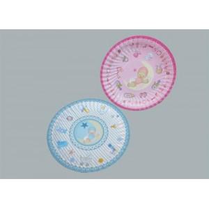 Toptan 19 cm Aydedeli Karton Tabak Baby Shower Parti Malzemesi 8 adet