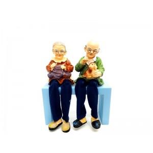 Toptan 2 adet Yaşlı Çift Biblo