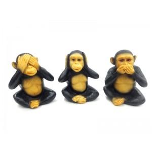 Toptan 3 lü Maymun Biblo Görmedim Duymadım Bilmiyorum