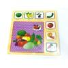 Toptan Ahşap Araba Sebze ve Meyve Yapboz Puzzle