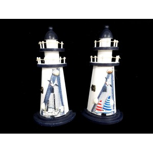 Toptan Ahşap Deniz Feneri Anahtarlık