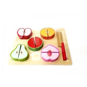 Toptan Ahşap Meyve Sebze Kesme Seti Oyuncak