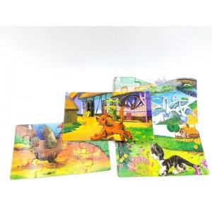 Toptan Ahşap Oyuncak Puzzle 4'lü