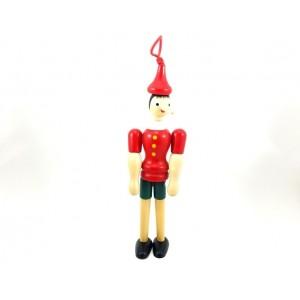 Toptan Ahşap Pinokyo Kukla 20 cm