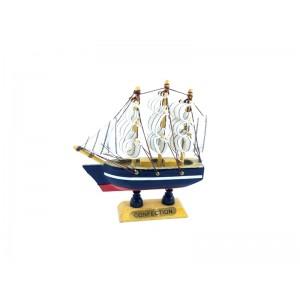 Toptan Ahşap Yelkenli Gemi 12 cm
