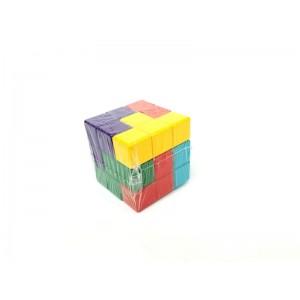 Toptan Ahşap Zeka Oyuncakları Renkli Soma Küpü