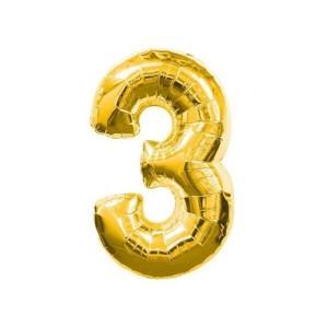 Toptan Altın ve Gümüş Renk Rakam Şeklinde Folyo Balon 40 inç