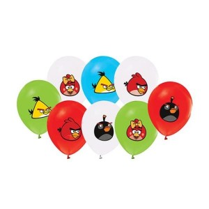 Toptan Angry Birds Baskılı Balon 100 adet