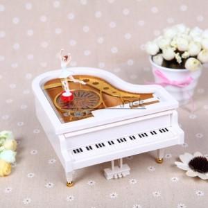 Toptan Balerinli Piyano Şeklinde Müzik Kutusu