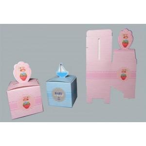 Toptan Bebek Şekeri İçin Katlanan Karton Kutu