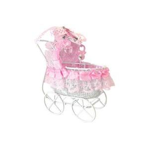 Toptan Bebek Şekeri İçin Süslü Metal Puset