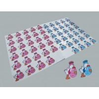 Toptan Bebek Şekeri Süsleme Malzemesi Leylekli Sticker 30 adet