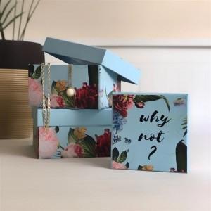 Toptan Çiçek Tasarım 3'lü Kutu Set