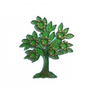 Toptan çiçekli Yapraklı Plastik Ağaç Nikah ve Mevlüt Şekeri Malzemesi 10 ADET