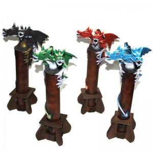 Toptan Çift Kafalı Kanatlı Dragon Tütsülük 35 cm