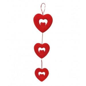 Toptan Çift Kalpli Büyük Boy 3 lü Kalp