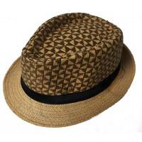 Toptan Desenli Hasır Fötr Şapka Erkek