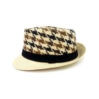 Toptan Desenli İpli Fötr Şapka Erkek