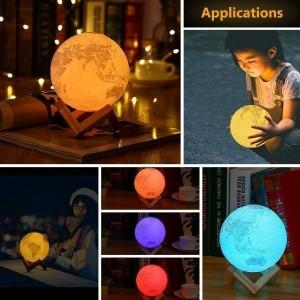 Toptan Dokunmatik Renk Değiştiren Şarjlı Ay Lamba