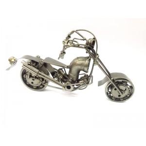Toptan Eskitme Metal Motosiklet Biblo