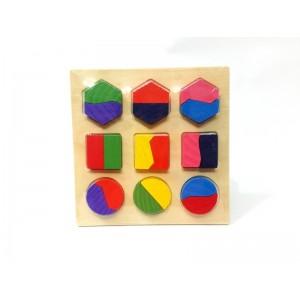 Toptan Geometrik Şeklili Ahşap Eğitici Oyuncak