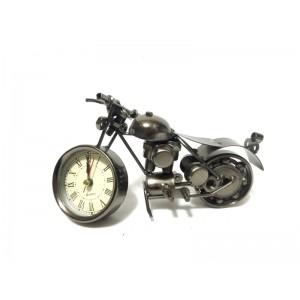 Toptan Hediyelik Metal Motosiklet Şeklinde Saat