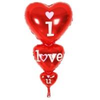 Toptan I Love You Yazılı Kalp Folyo Balon