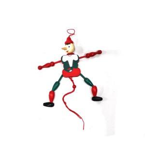 Toptan İpli Ahşap Pinokyo Oyuncak