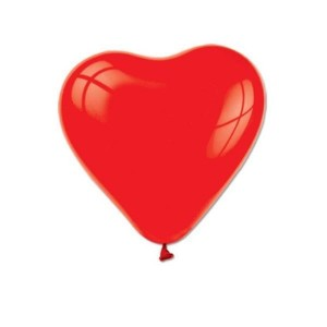 Toptan Kalp Şeklinde Kırmızı Balon 100 adet