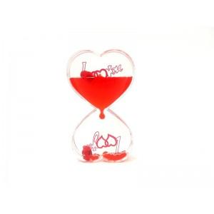 Toptan Kalp Tasarımlı Jel Kum Saati Su Oyunu  K303
