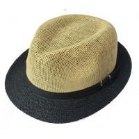 Toptan Kemer Aksesuarlı 2 Renkli Hasır Fötr Şapka