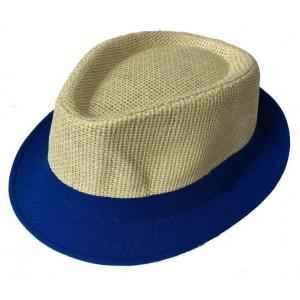 Toptan Kenarları Kumaş Erkek Hasır Fötr Şapka