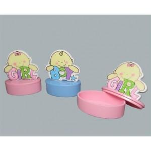 Toptan Kız Erkek Bebek Baby Shower Hediyeleri Ahşap Kutu