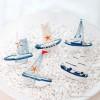 Toptan Küçük Boy Marin Yelkenli Gemi Biblo