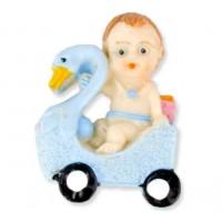 Toptan Kuğu Üstünde Bebek Pembe ve mavi Bebek Şekeri Malzemesi
