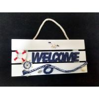 Toptan Marin Duvar Süsleri Welcome Yazısı Kapı Süsü