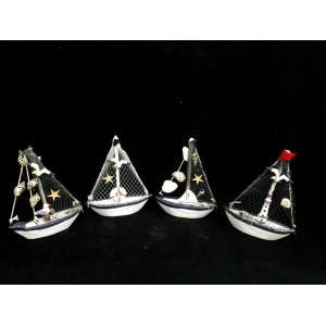 Toptan Martı ve Deniz Yıldızı Figürlü Yelkenli Tekne
