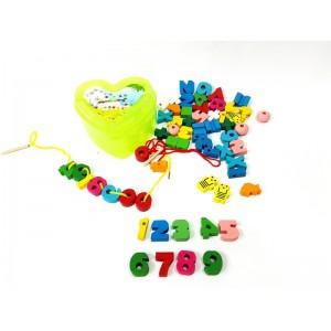 Toptan Montessori Oyuncakları İp Geçirme Oyunu
