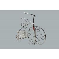 Toptan Nikah ve Bebek Şekeri İçin Sepetli Beyaz Tel Bisiklet