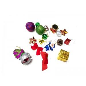 Toptan Noel Ağacı Süsleri 19 parça